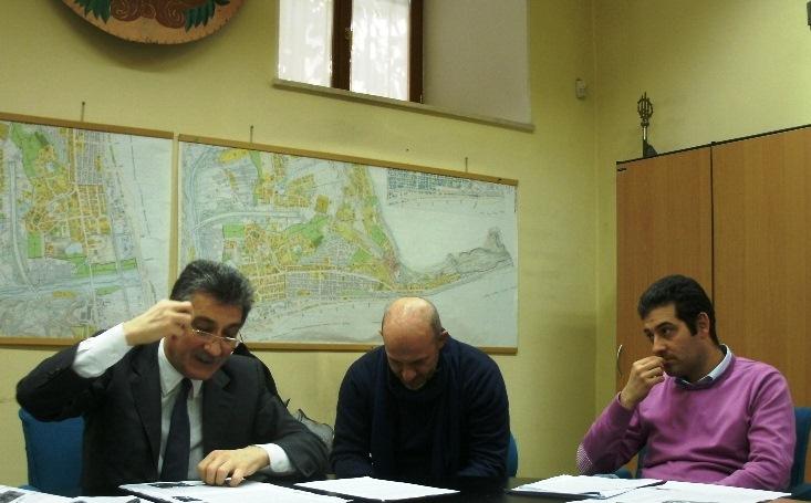 Il sindaco Merli e alcuni assessori