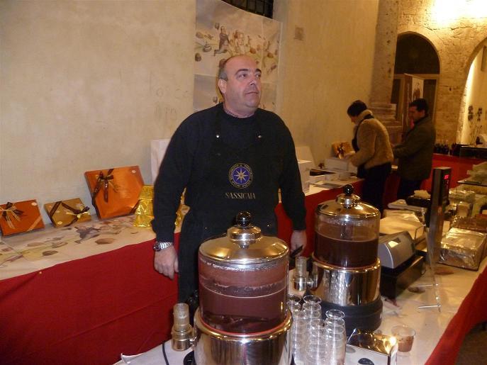 Uno stand di Piceno Chocolate