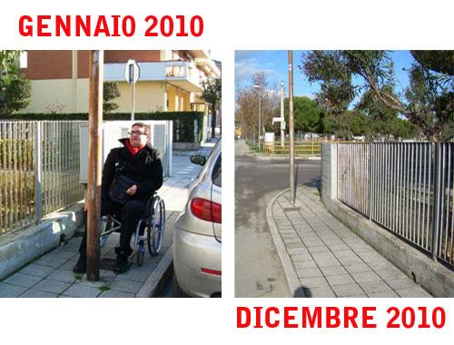 Barriere architettoniche a San Benedetto: dopo un anno, riandiamo con il nostro amico Jonni Perozzi a verificare cosa è stato fatto