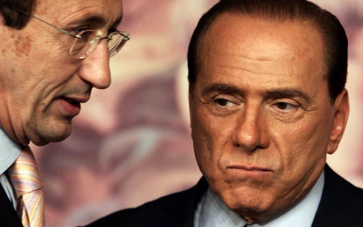 Gianfranco Fini e Silvio Berlusconi