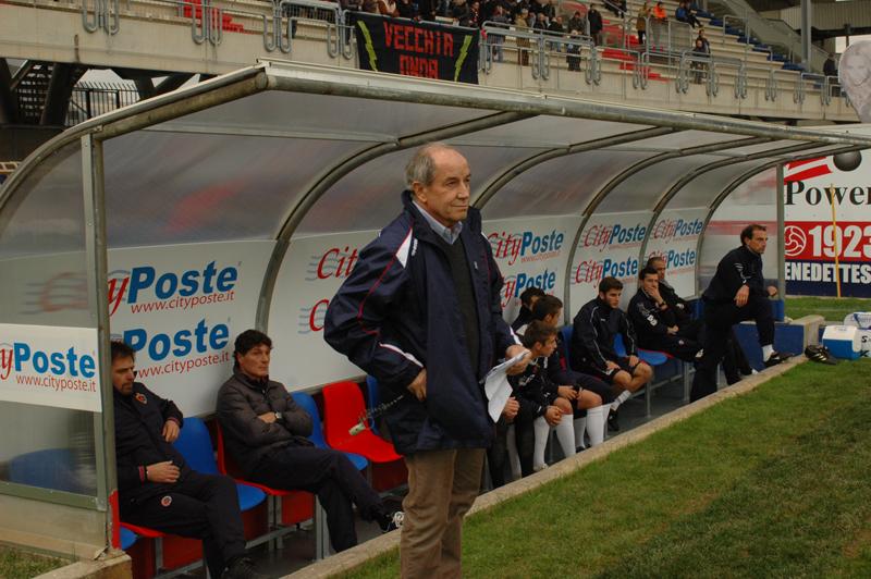 Il tecnico della Samb Luigi Boccolini (foto Troiani)