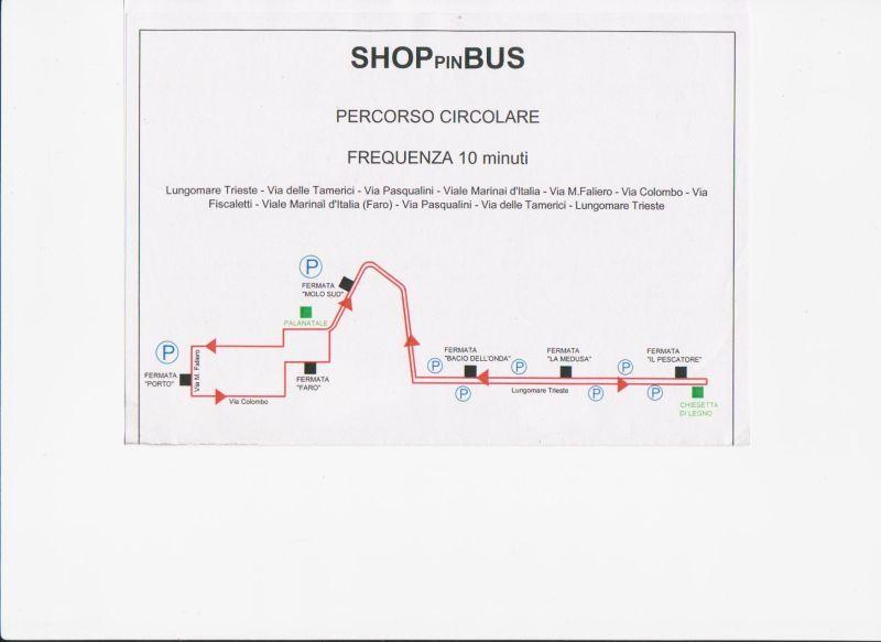 Bus navetta gratuiti dal lungomare nord al centro di San Benedetto: nell'immagine il tragitto e le fermate