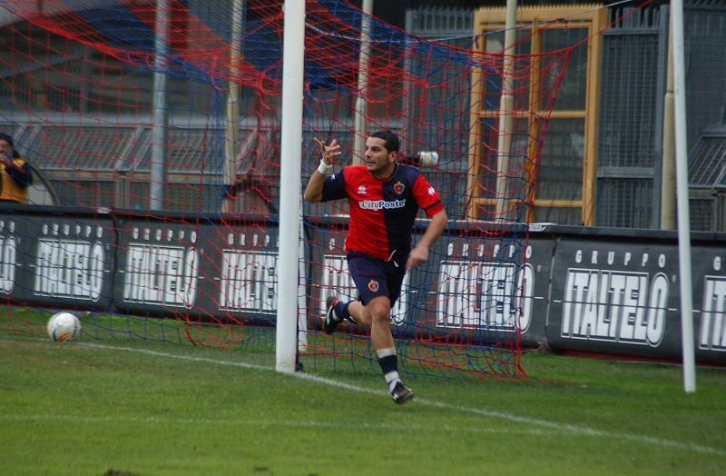 Caligiuri festeggia il gol al Rimini (foto Troiani)