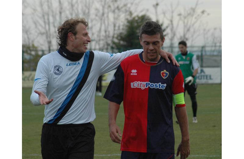 L'ex Samb Cammarata con Ogliari (foto archivio Troiani)