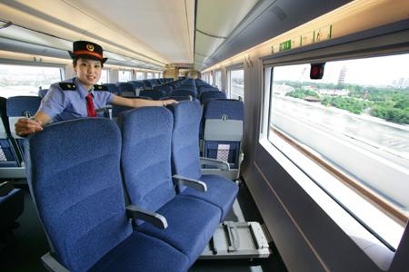 L'interno di un treno ad alta velocità cinese [Foto: china.org.cn]