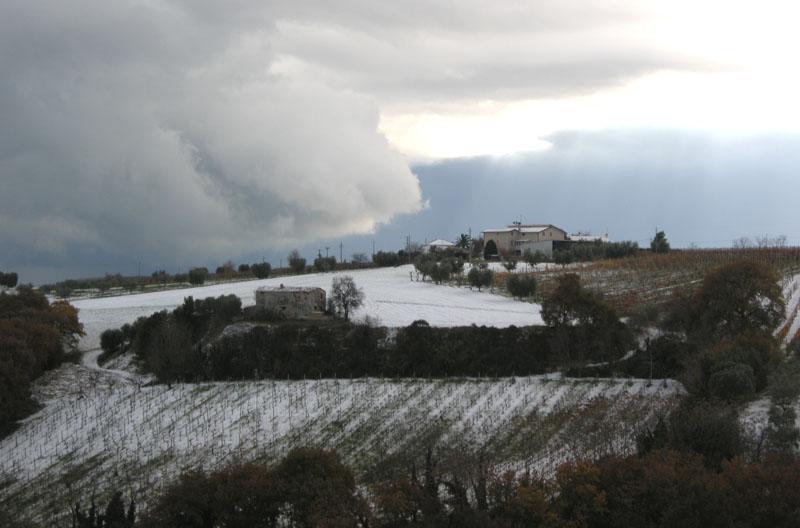 15 dicembre 2010, la neve sulle colline di Grottammare