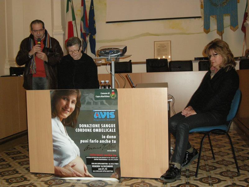 Da sinistra Massimo Lauri, Rossana Travaglia e Gianna Marcozzi