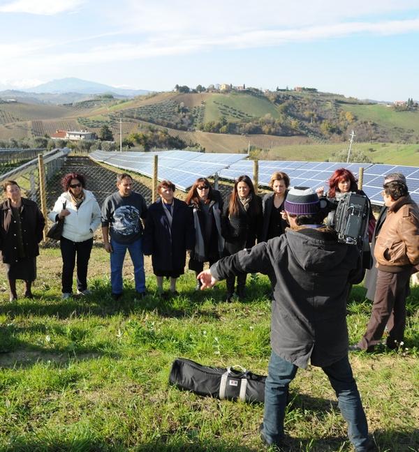 le riprese del tg Marche a Valle Cecchina