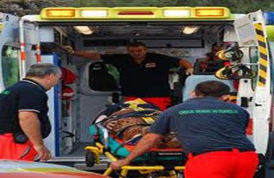 Croce Verde durante un intervento di soccorso