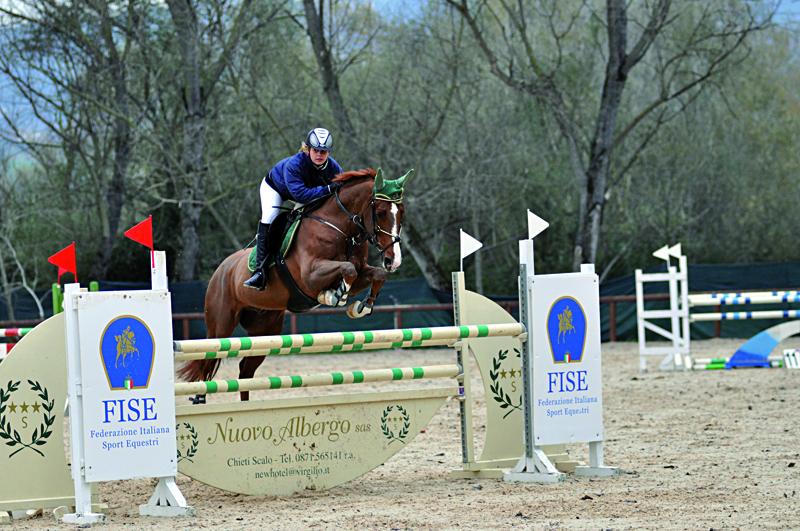 Carlotta Fanini con il suo cavallo