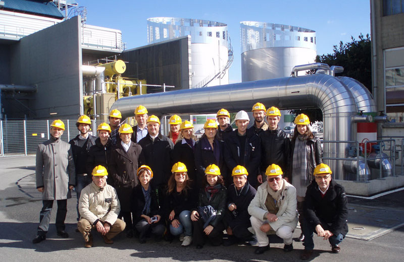 I rappresentanti dei Comuni in visita alla centrale di cogenerazione e teleriscaldamento di Moncalieri