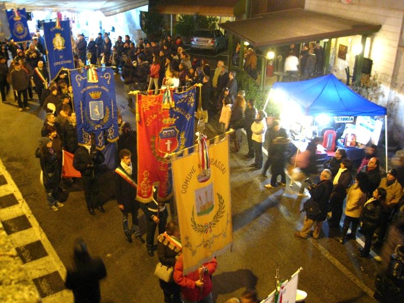 La processione vista dall'alto