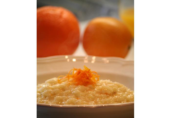 Risotto arance e taleggio