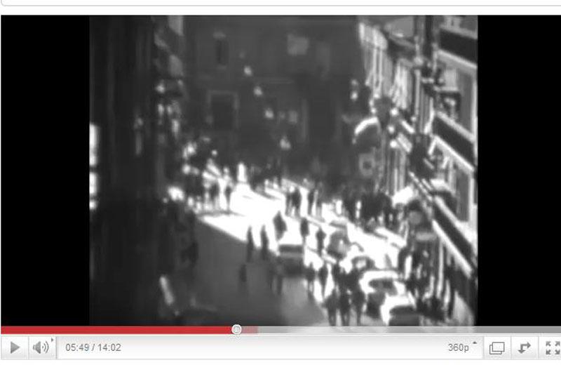 23 dicembre 1970, tragedia del Rodi, proteste a San Benedetto (fotogramma da Alfredo Giammarini)