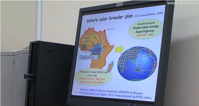Schema del progetto Sahara solar breeder