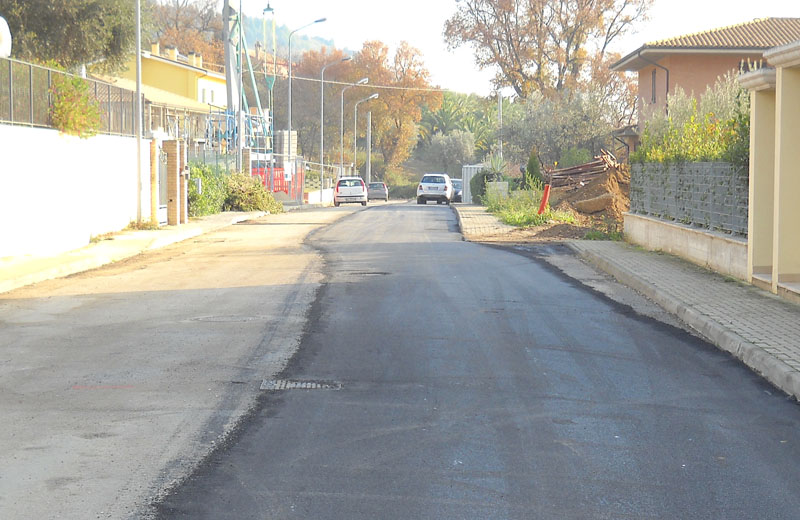 Nuovi asfalti a San Salvatore