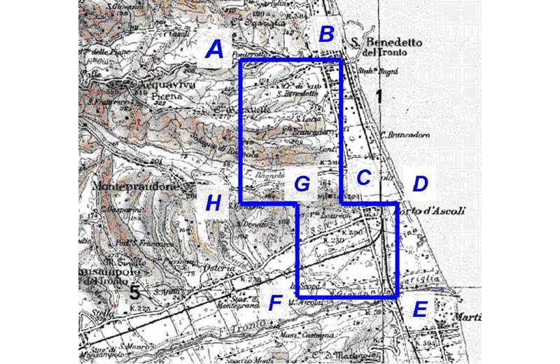 Gas. Dal sito web del Ministero dello Sviluppo Economico, la mappa che riporta sulla superficie terrestre lo sviluppo sotterraneo del vecchio giacimento di metano che diventerà un deposito di stoccaggio