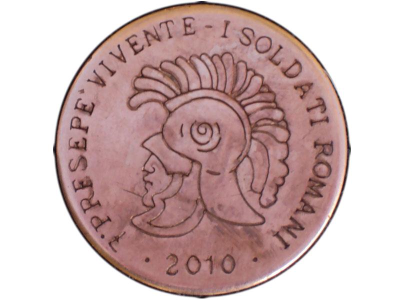 Presepe vivente, la moneta del 2010 dedicata ai soldati romani