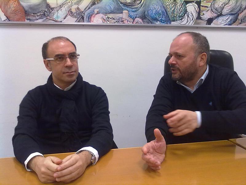 L'assessore regionale Sandro Donati con il sindaco Giovanni Gaspari
