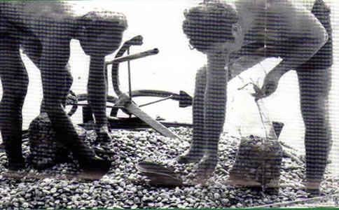Vongolari a Cupra, una foto storica