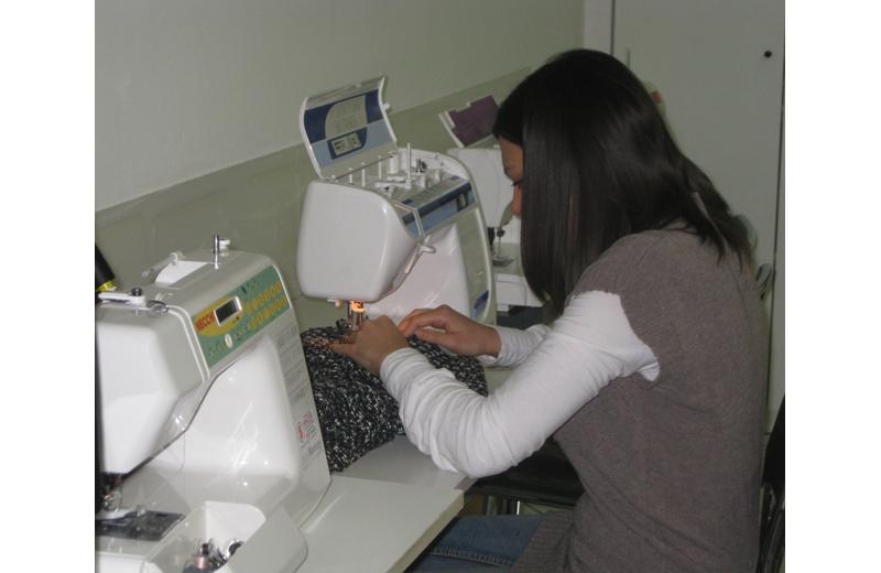 Una sarta al lavoro al Centro di Formazione Professionale di Centobuchi