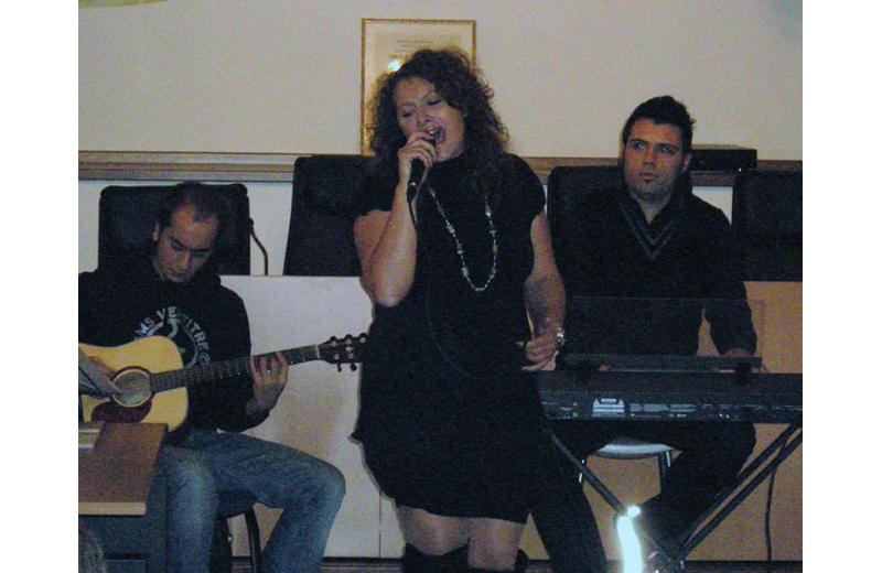 Gli Echo's e Francesca Spaletra in scena