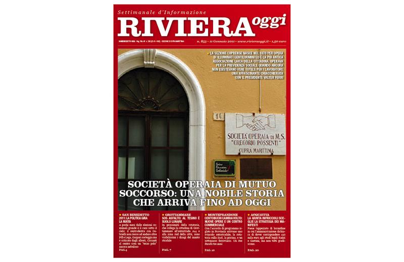 Riviera Oggi numero 853, la copertina per Cupra Marittima