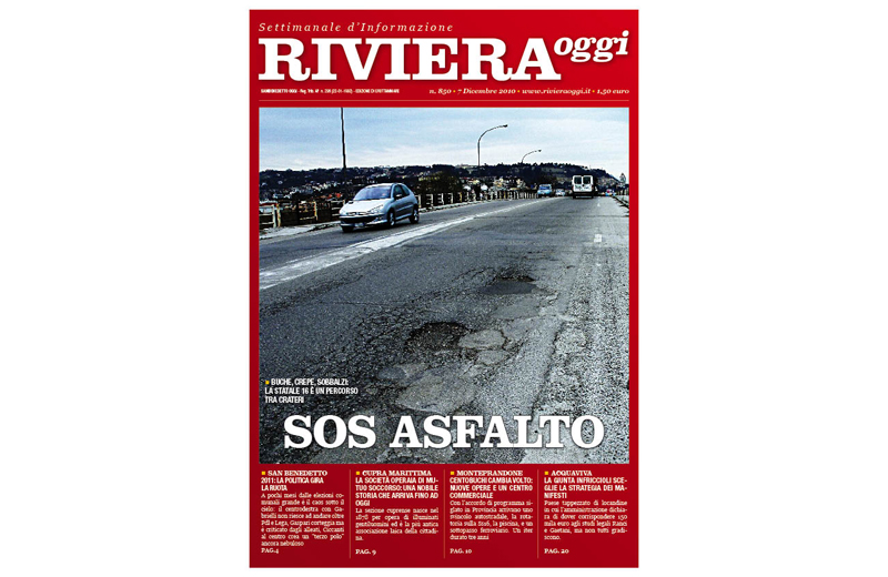 Riviera Oggi numero 853, la copertina per Grottammare