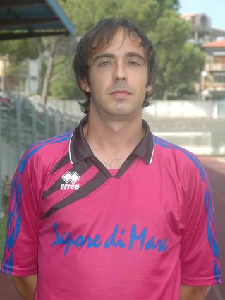 Andrea Tonici autore di una doppietta ed attuale capocannoniere dell'Eccellenza Marche con 13 reti