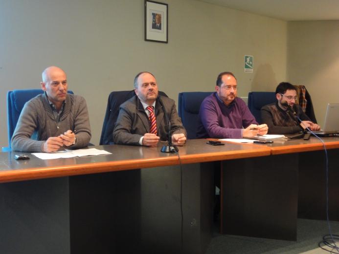 Giorgio Fede, il sindaco Giovanni Gaspari, Germano Polidori e Marco Cicchi