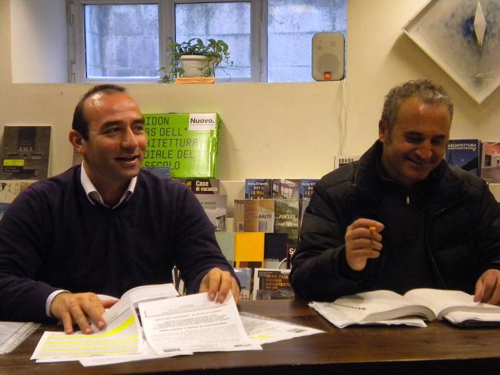 Andrea Quaglietti (a sinsitra) e l'avvocato Antonio Strozzieri