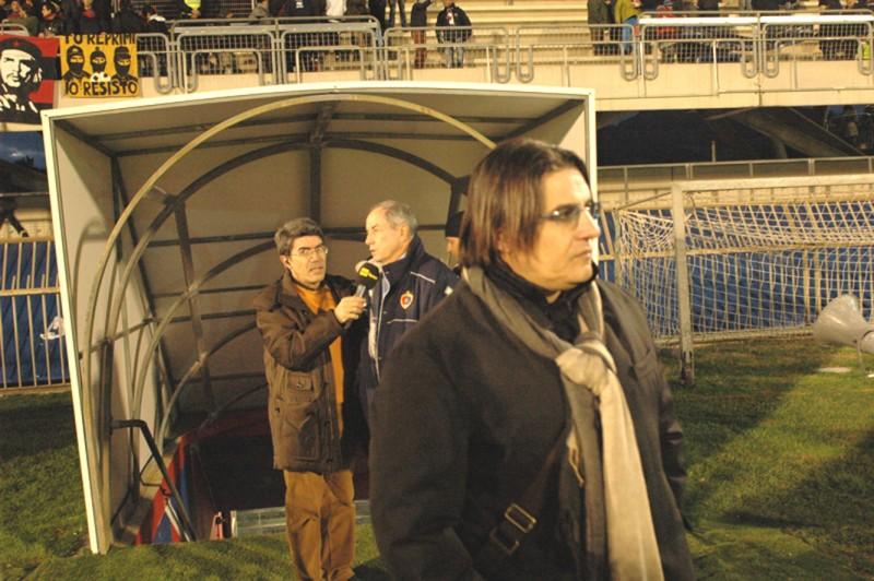 Sergio Spina lascia il campo scuro in volto per la mancata vittoria