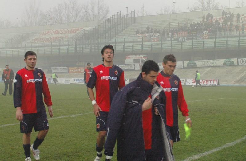 Di Vicino esce a testa bassa a fine partita: i suoi miracoli non sono bastati (foto Troiani)