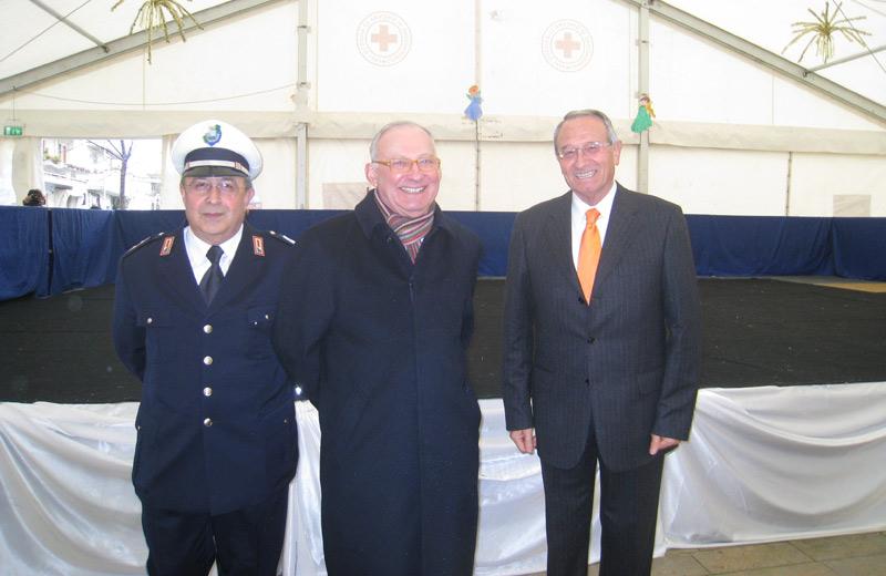 Il Comandante De Santis, il Procuratore Ferretti e il sindaco Di Salvatore