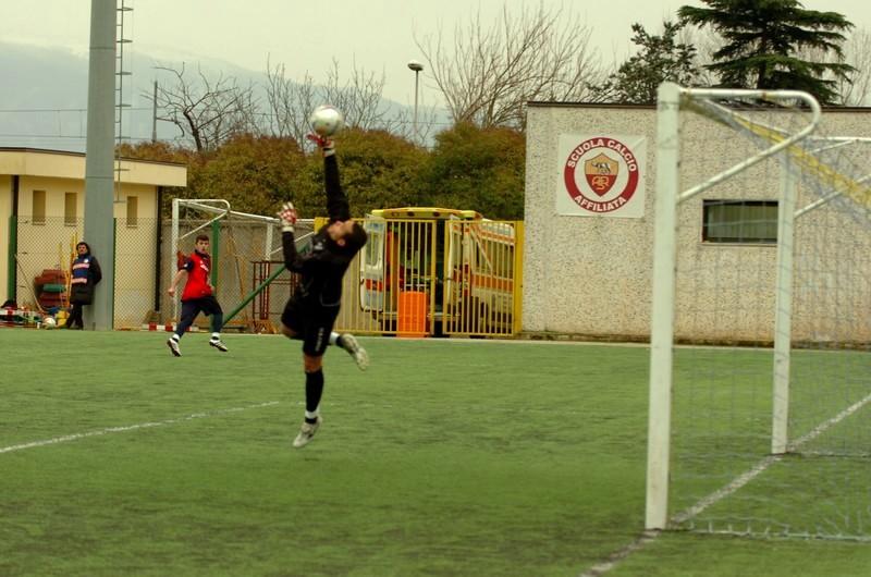 e dopo il colpo di biliardo, il gol di D'Angelo (foto Troiani)