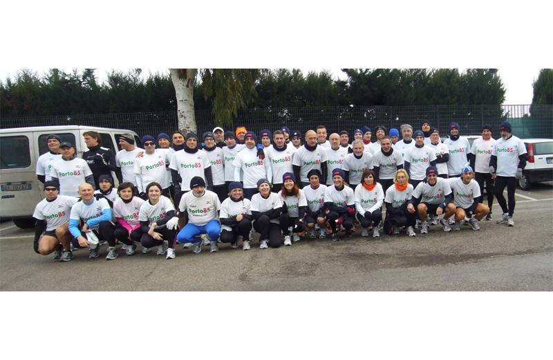 Foto di gruppo per la Polisportiva Porto 85
