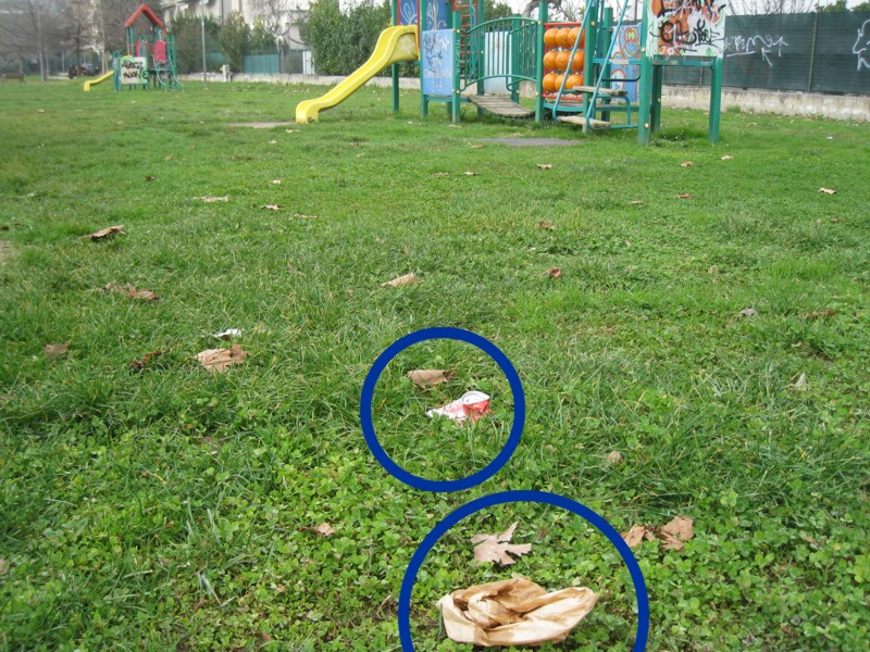 Parco Wojtyla: spazzatura