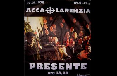 Cartellone affisso da ignoti alle porte del Liceo Classico rivierasco.