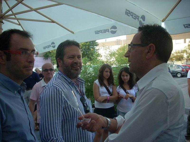 Domenico Martinelli con Bruno Gabrielli e Pasqualino Piunti