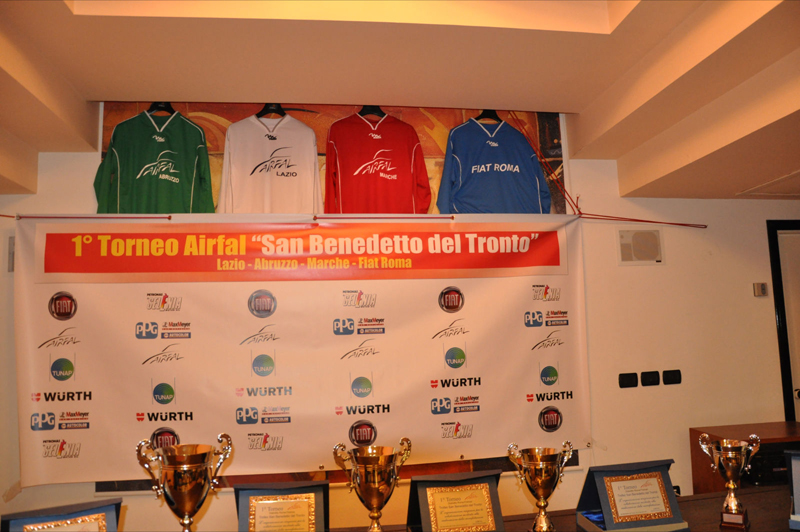 I trofei del torneo Airfal