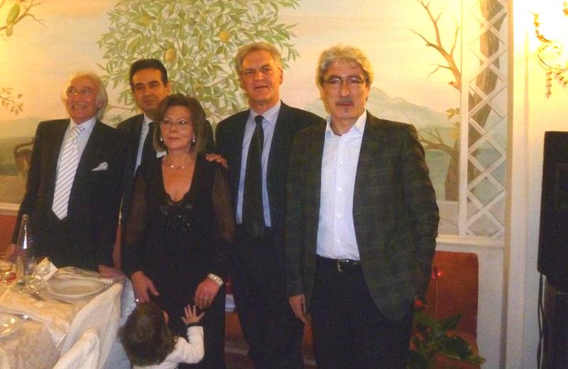 Anna Rita Carpani col marito (a sinistra) e quindi Pietro Colonnella, Piero Celani e Massimo Rossi
