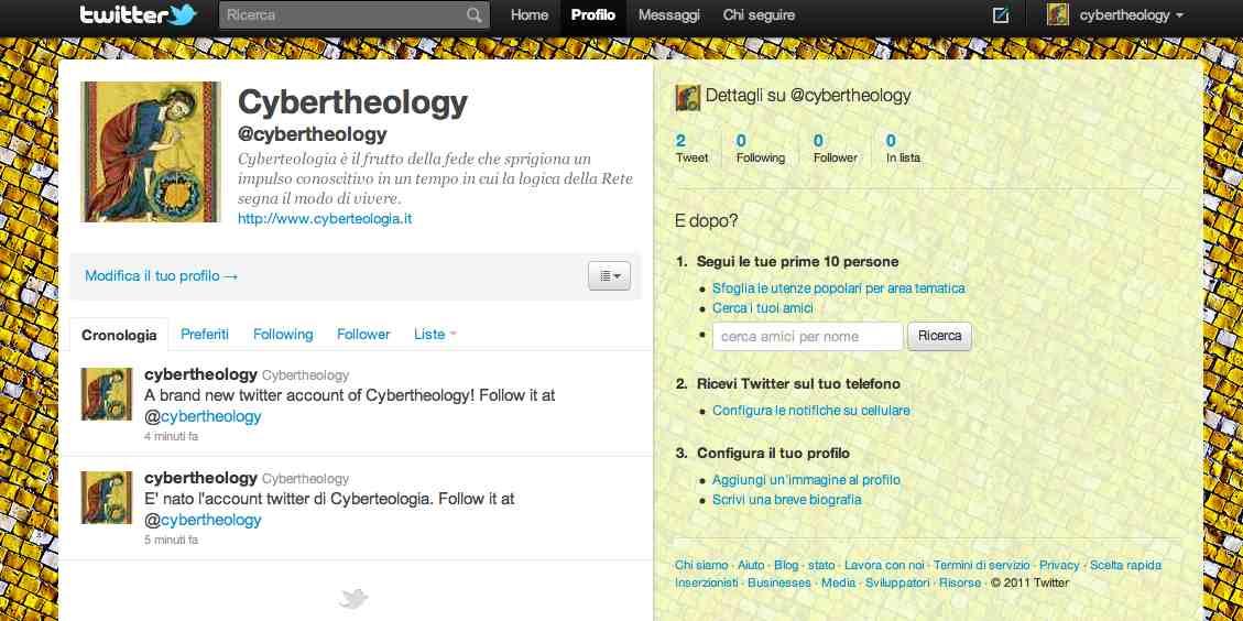 La cyberteologia su Twitter