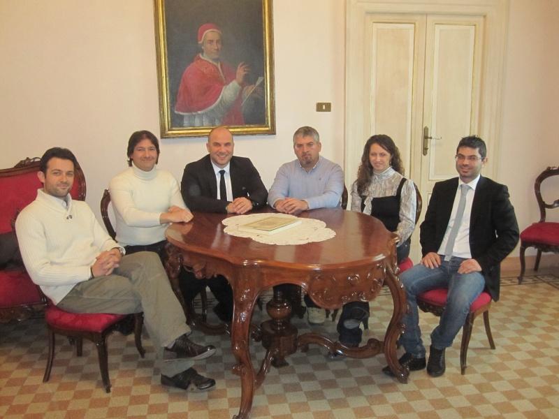 Da sinistra: Stefano Feliziani, Enrico Calvaresi, Valerio Lucciarini, Luigi Massa, Mariangela Di Buò, Giorgio Filipponi