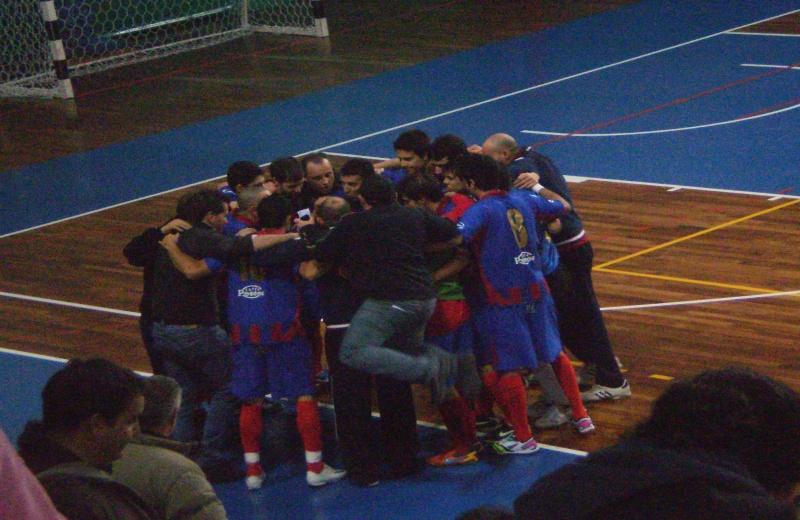La Futsal Samb alla fine del match contro Roma