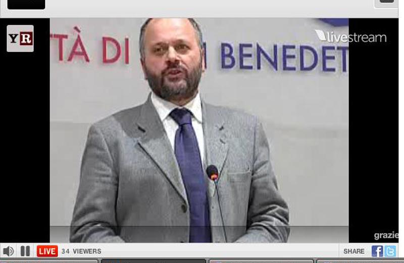 Giovanni Gaspari durante la recente diretta di RivieraOggi.it sull'urbanistica