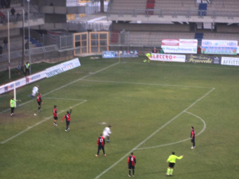 Moschini ha appena segnato il gol partita