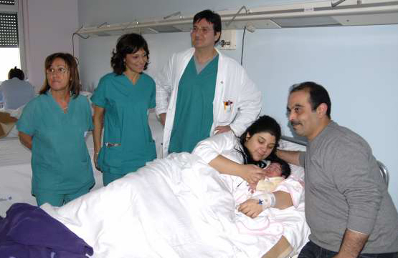 Zahira, la prima bimba nata nel 2011 all'ospedale Madonna del Soccorso (foto Bracetti)