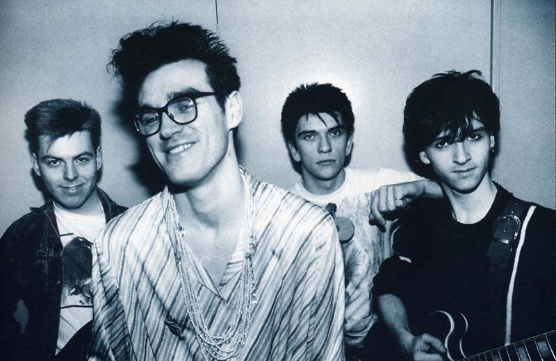 The Smiths: Andy Rourke, Morrisey, Mike Joyce, Johnny Marr