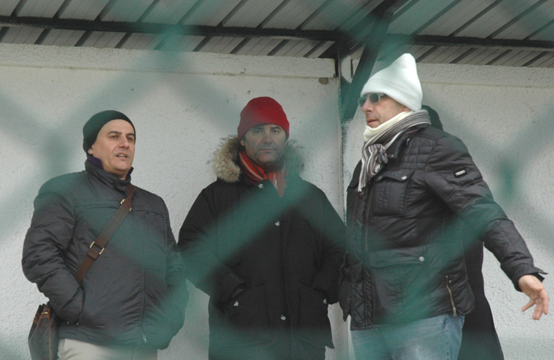 Spina, Spadoni e Bartolomei nella gelida Venafro (ph. Troiani)