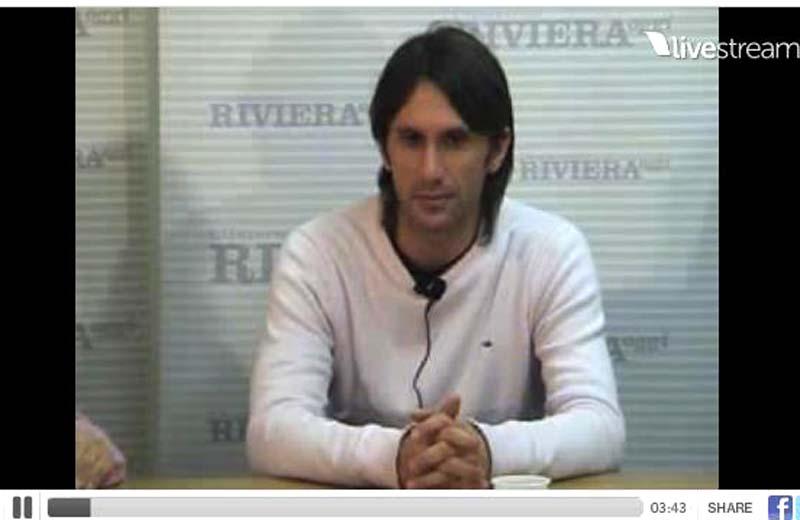Massimiliano Zazzetta durante la diretta di YouSamb dell'11 gennaio 2011